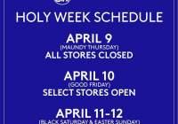 《コミュニティ検疫期間中》セブ・マクタン島内「スーパーマーケット」ホーリーウィーク営業時間のご案内(2020)