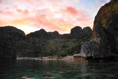 エルニドのミニロックアイランド(Miniloc Island)の夕日