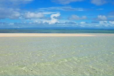 【zoomバーチャル背景対】パンダノン島(Pandanon Island)の美しい「サンドバー」